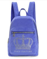 Juicy Couture Crystal Crown Velour Backpack