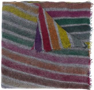 Faliero Sarti Rainbow Stripe Cashmere Scarf
