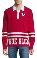 True Religion Logo Polo Rugby Shirt