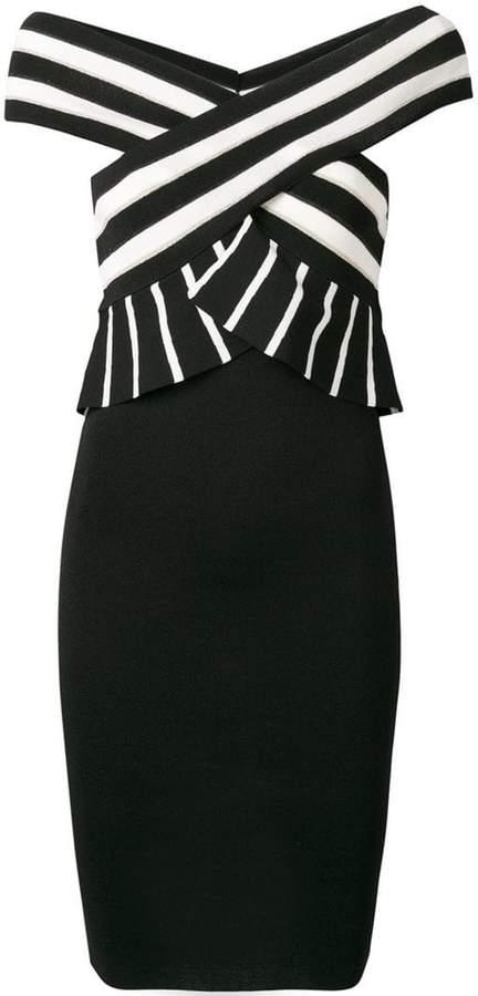 Liu Jo striped fitted dress