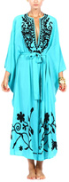 Pas Pour Toi Turquoise Embroidered Kaftan
