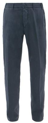 Altea Garment-dyed Slim-leg Cotton-blend Chinos - Mens - Navy