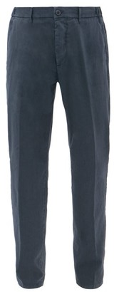 Altea Garment-dyed Slim-leg Cotton-blend Chinos - Navy