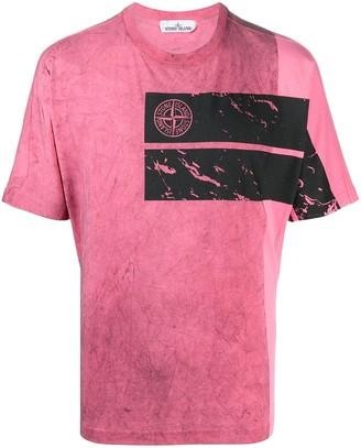 Stone Island logo print short-sleeved T-shirt