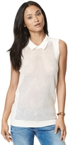 Tommy Hilfiger Final Sale- Perforated Sleeveless Sweater