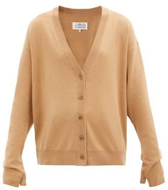 Maison Margiela Mitten-cuff Wool-blend Cardigan - Camel