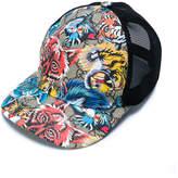 Gucci Kids animal print GG Supreme cap