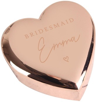 Personalised Rose Gold Bridesmaid Trinket Box