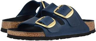 Birkenstock Arizona Big Buckle (Blue Oiled Leather) Women's Shoes