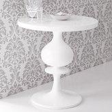 Turned Wood Pedestal Table - High Gloss White
