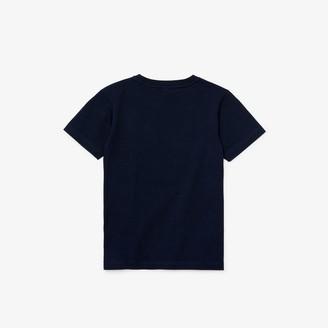 Lacoste Boys Original 1927 Print Cotton T-Shirt