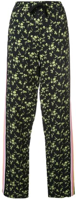 No.21 Floral-Print Trousers