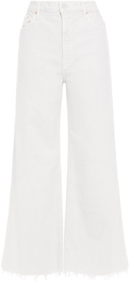 Mother Frayed High-rise Wide-leg Jeans