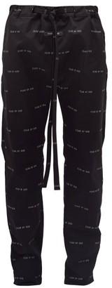 Fear Of God Logo-print Technical-gabardine Track Pants - Mens - Black
