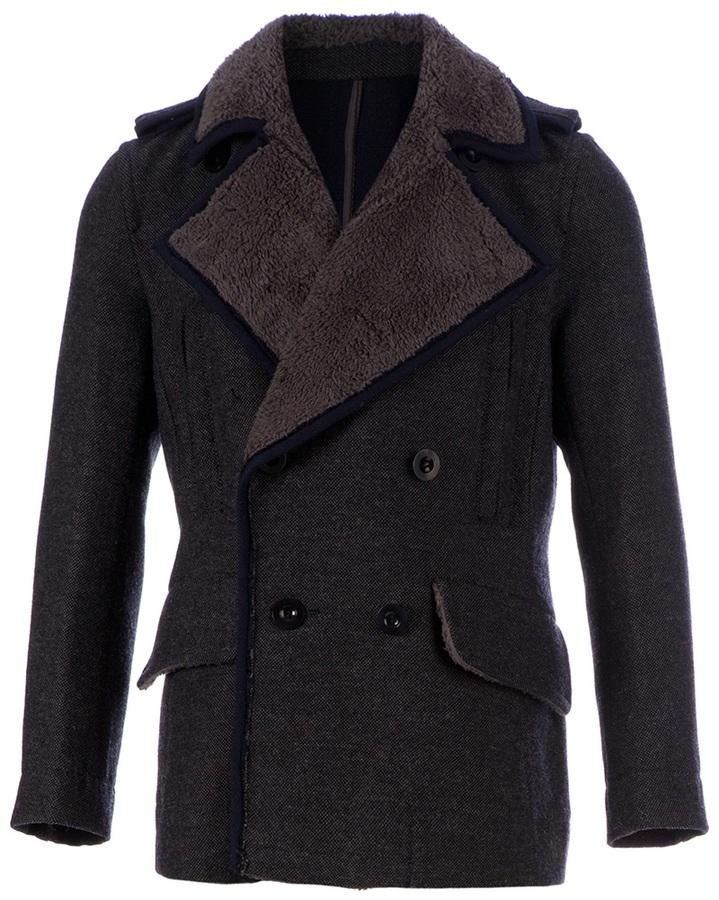Sacai Two tone trench coat