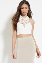 Forever 21 FOREVER 21+ Reverse Web We Weave Crop Top