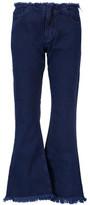 Marques Almeida Marques' Almeida Mid-Rise Frayed Flared Jeans