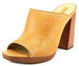 Frye Karissa Mule Women Peep-toe Leather Tan Mules.