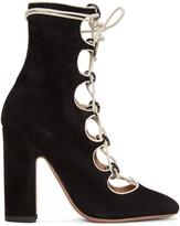 Valentino Black Suede Ghillie Boots