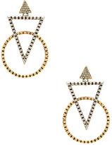 House Of Harlow Nadia Statement Earrings in Metallic Gold.