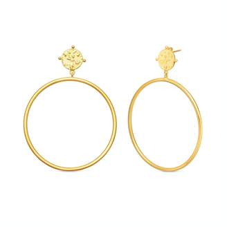 Missoma Lucy Williams Gold Coin Chandelier Hoops