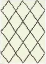 nuLoom Diamond Shag Rug - Brown