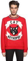 Diesel Cat Astrophy Patches Cotton Sweatshirt