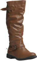Wet Seal Tall Moto Boot With Buckle (Wide Width)