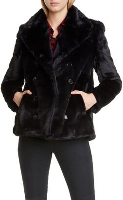 Saint Laurent Faux Fur Peacoat