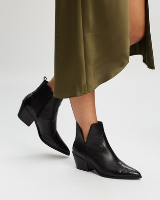 Aldo Mersey Leather Western Style Ankle Boots