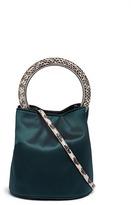 Marni 'Pannier' snake embossed ring handle satin crossbody bag
