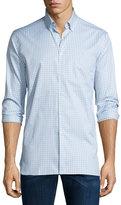 Burberry Matlock Gingham Long-Sleeve Sport Shirt, Light Gray Melange