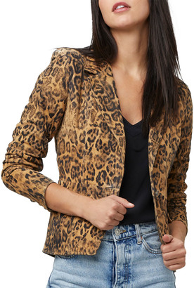 As By Df All Hail The Queen Leopard Leather Blazer