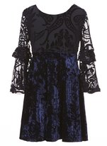 My Michelle Big Girls 7-16 Velvet Long-Sleeve Dress