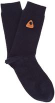 Folk Rib Socks Navy