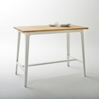 La Redoute La Hiba Industrial Style Wood/Metal Bar Table
