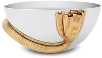 L'OBJET Small Deco Leaves 24K Goldplated & Stainless Steel Bowl