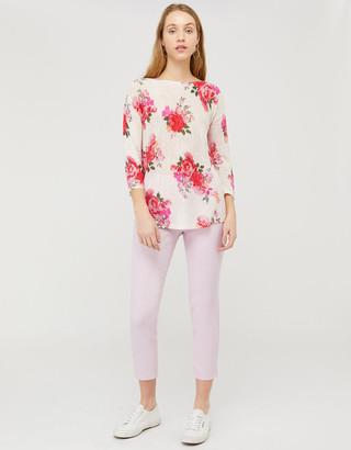 Under Armour Leah Floral Jumper in Linen Blend Multi