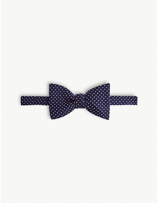 Eton Geometric print silk bow tie