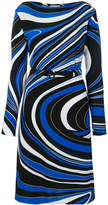 Emilio Pucci waves print belted dress