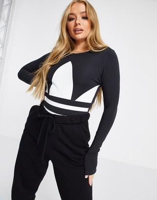 adidas long sleeve logo body in black