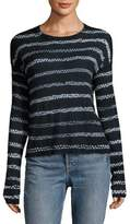 Helmut Lang Loose-Fit Striped Cashmere Top