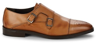 Nettleton Leather Double Monk-Strap Shoes