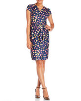 Yumi Printed Jersey Wrap Dress