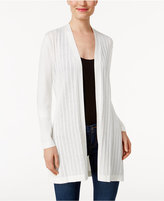 Karen Scott Pointelle Open-Front Cardigan, Only at Macy's