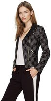 Juicy Couture Checkered Houndstooth Moto Jacket