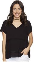 BB Dakota Paulette Rayon Crepe + Ribbon Trim Top Women's Clothing