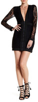 Lucca Couture Front Zip Lace Dress
