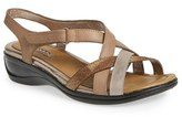Ecco Women's 'Sensata' Mixed Finish Leather Cross Strap Sandal