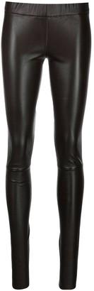Sylvie Schimmel Elasticated-Waist Leather Leggings